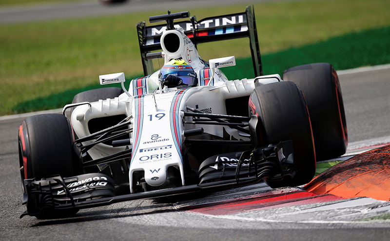 Williams' Felipe Massa of Brazil during the third free practice.