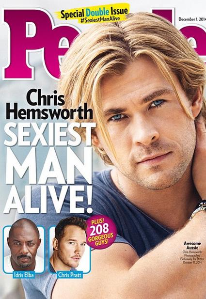 Chris Hemsworth, Sexiest Man Alive, People Magazine