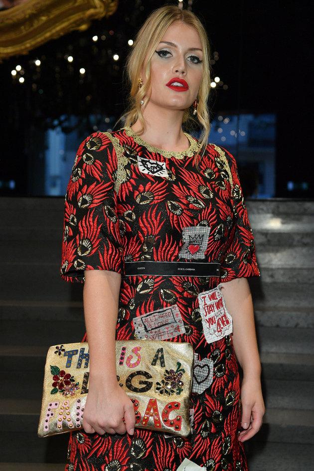 Kitty Spencer au défilé Dolce & Gabbana le 24 septembre à Milan, en