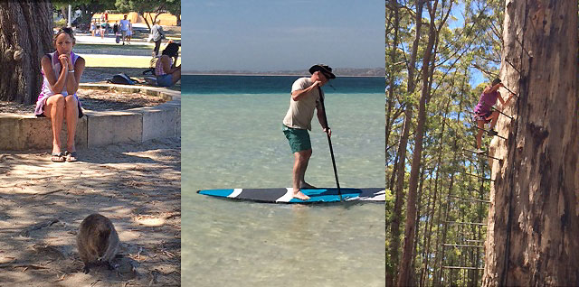 Quokkas, paddleboarding and tree-climbing