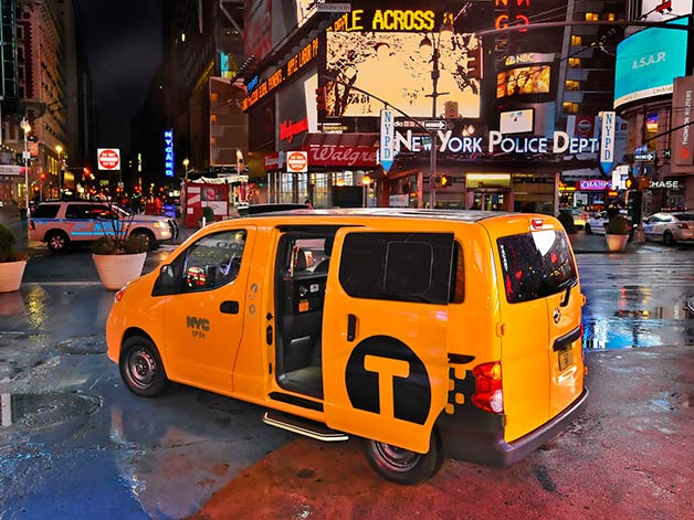 Nissan NV200 taxi cab in New York
