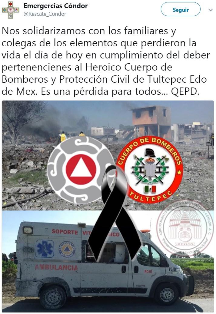 📹 Cuatro explosiones en Tultepec causan decenas de