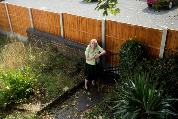 Trapped by neighbour's fence