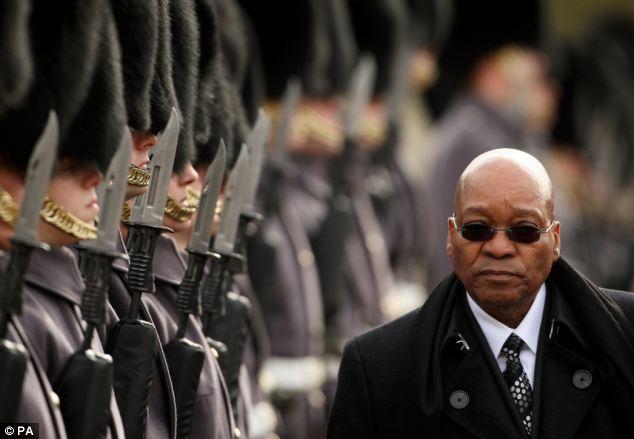 President Jacob Zuma (Probably) To Himself -- 'Ska Ba Hemisa, Ska Ba Forgiva, Ska Ba Fa