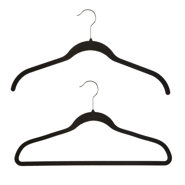 black huggable hangers