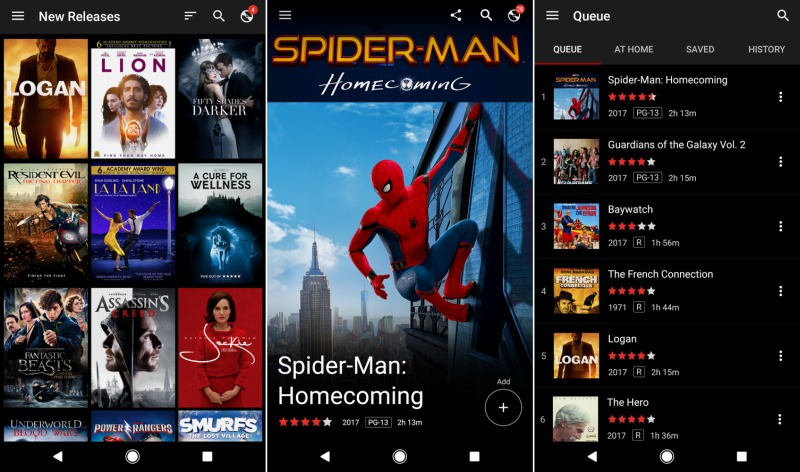 Netflix's DVD queue app is available on Android