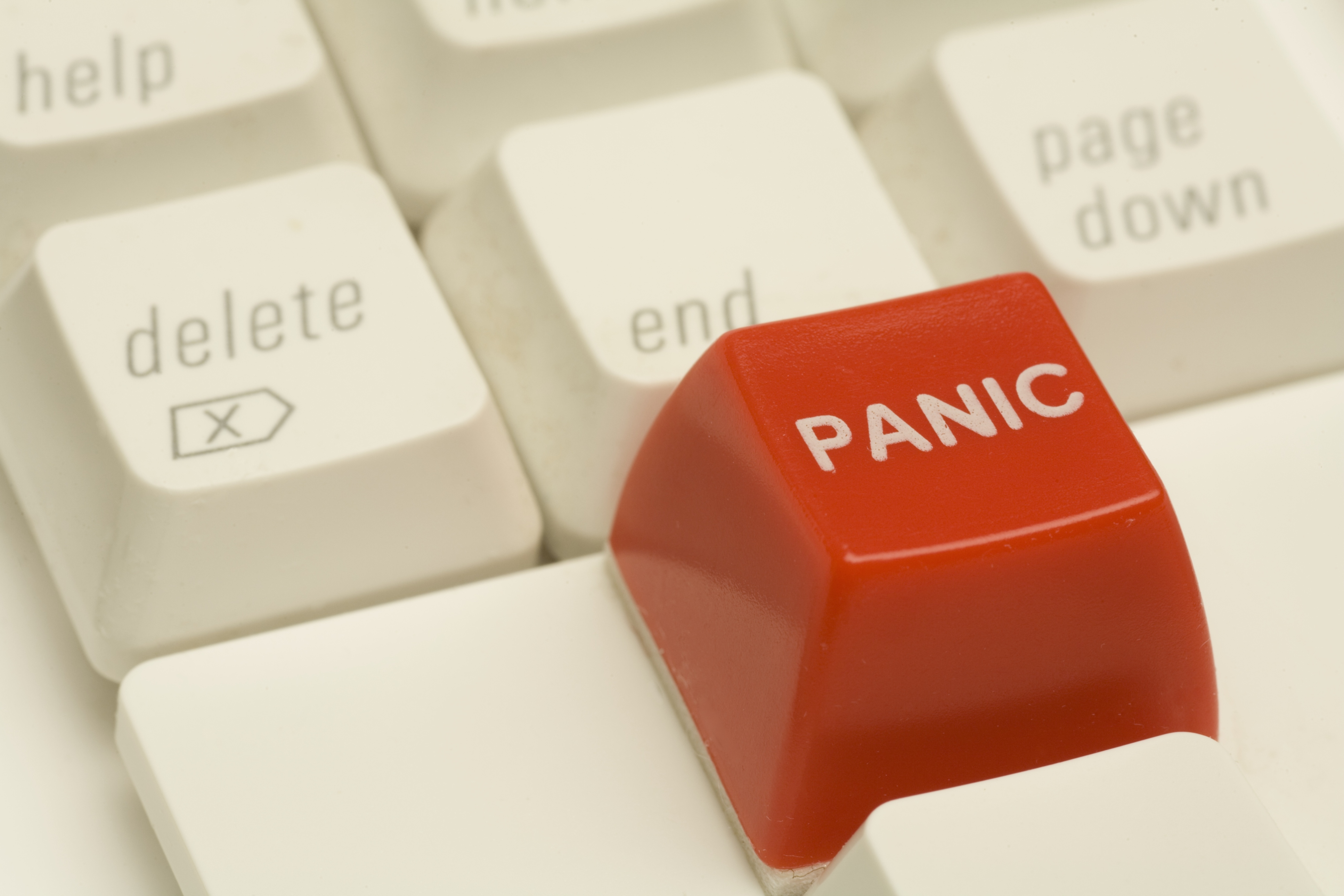 Panic button on computer keyboard