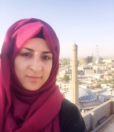 Undated handout photo of Madiha Raza, who works for the British-based charity Muslim Aid, in Erbil, Iraq. The British aid worker heading into the ruins of Mosul has said she is aware of the possible dangers, but that helping those trapped in the Iraqi city is far more important.