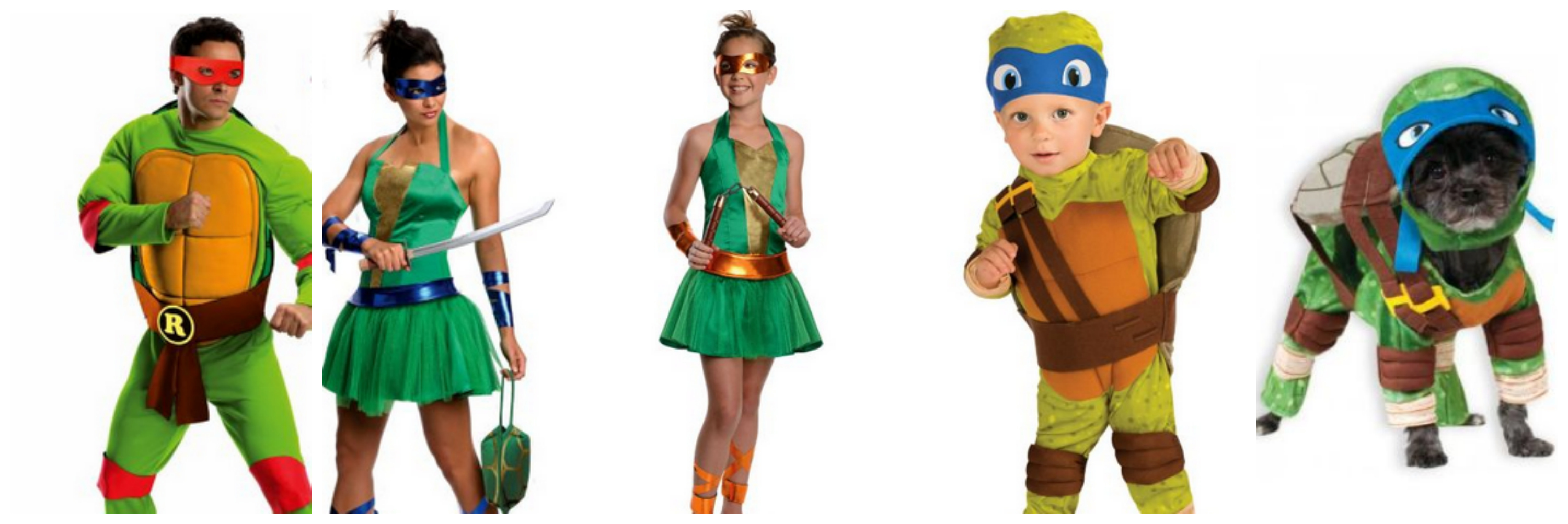 Teenage Mutant Ninja Turtle Family Costume Idea