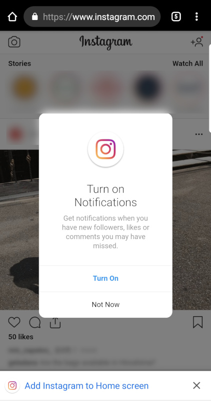 Instagram pushes notifications to Lite and web versions