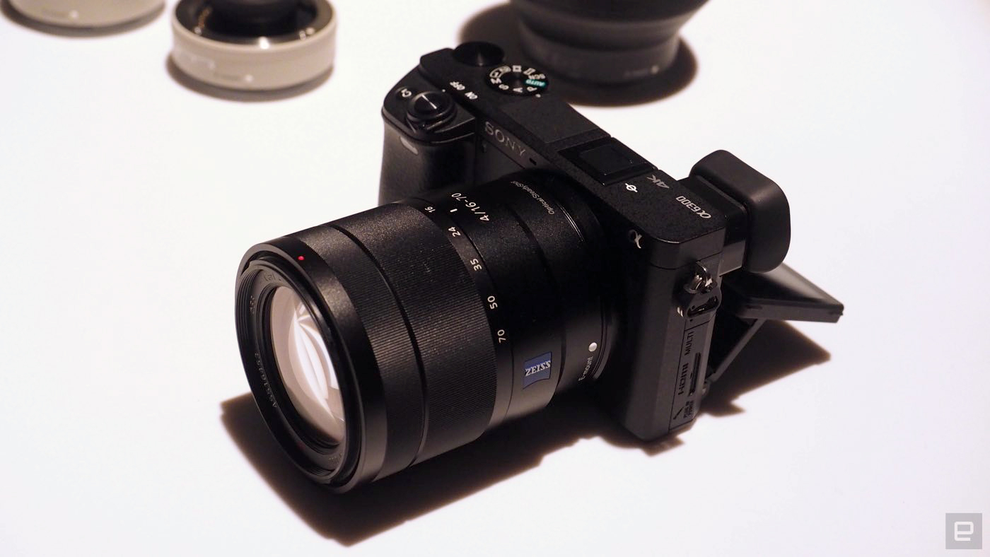 Sony\'s A6300 mirrorless camera shoots 4K in Super 35mm