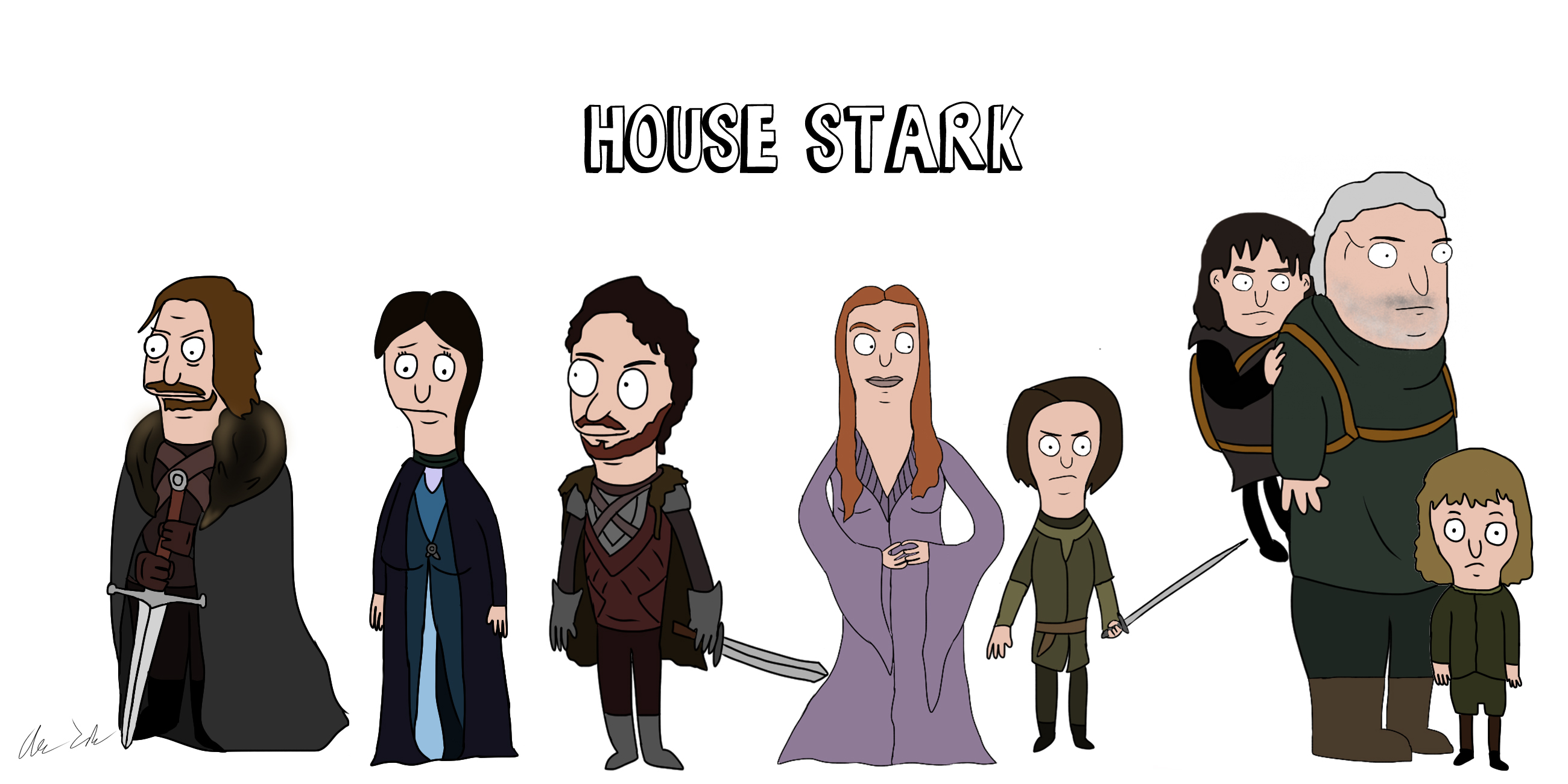 game of thrones, bobs burgers