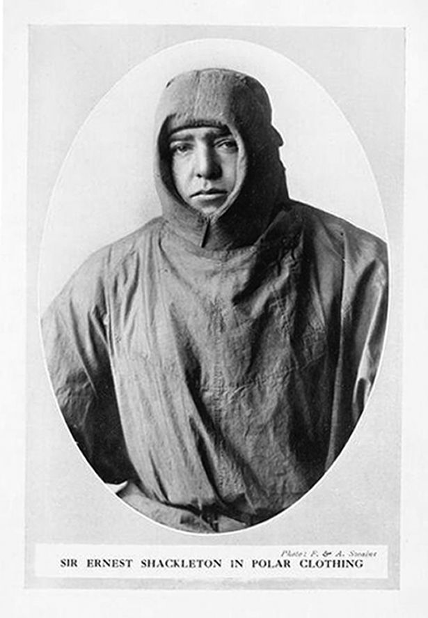 Sir Ernest Shackleton in polar clothing in January 1912