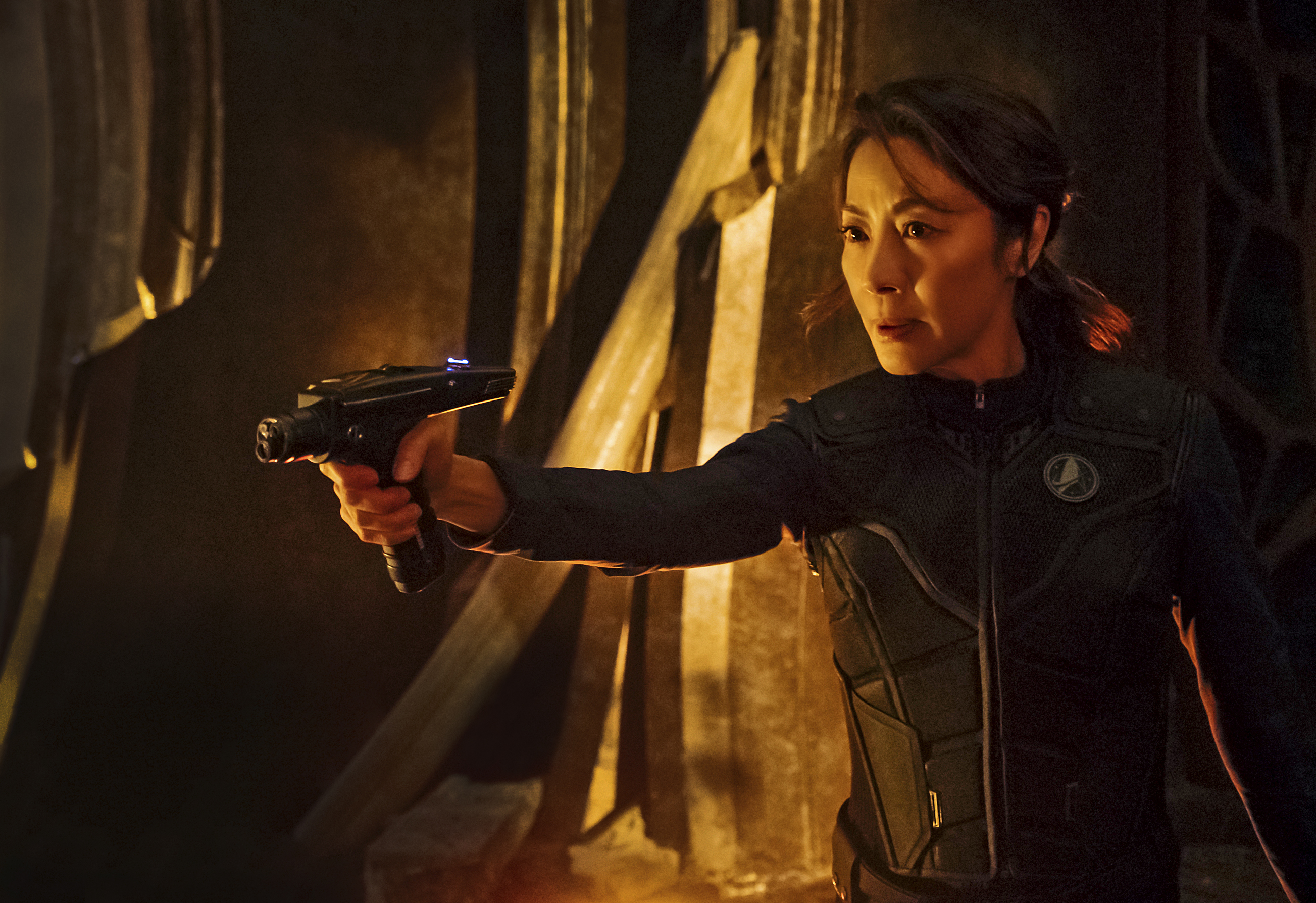 Pictured: Michelle Yeoh as Captain Philippa Georgiou. STAR TREK: DISCOVERY coming to CBS All Access.  Photo Cr: Jan Thijs  � 2017 CBS Interactive. All Rights Reserved.