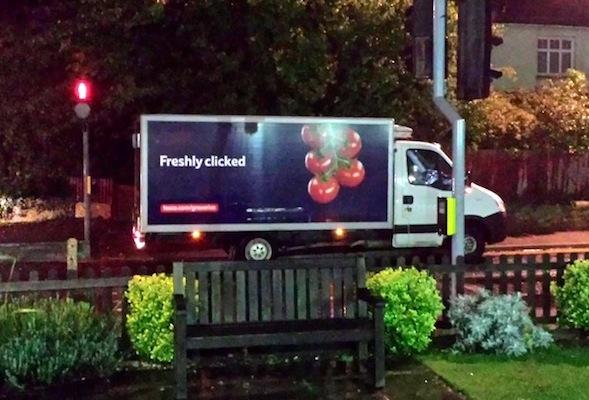 badly parked van