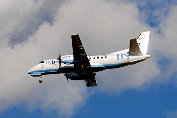 Flybe flight delayed two hours at Edinburgh as glue dries on wing patch