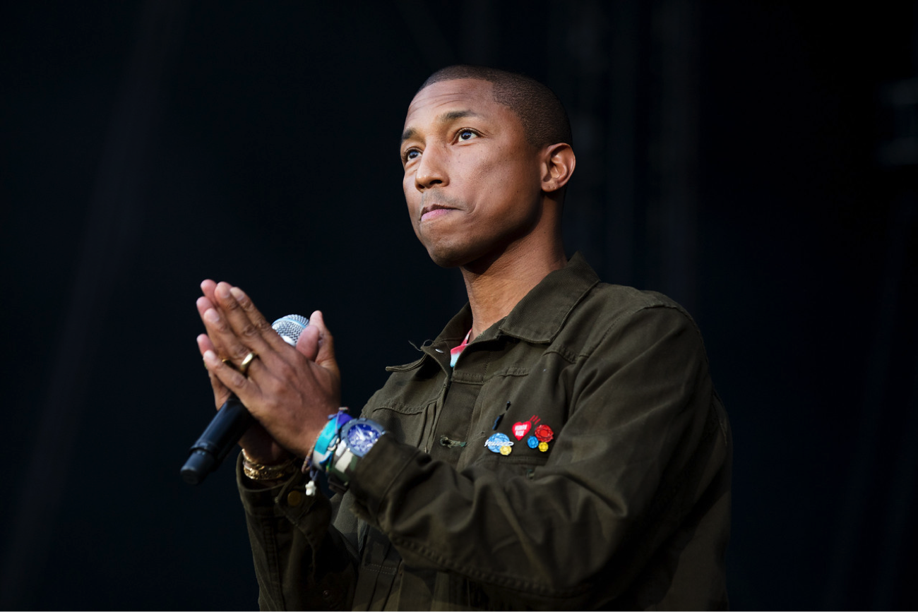 Pharrell Williams performs at the Concert for Charlottesville