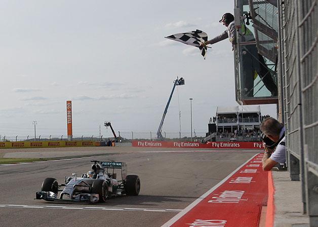 Lewis Hamilton wins the 2014 US Grand Prix.