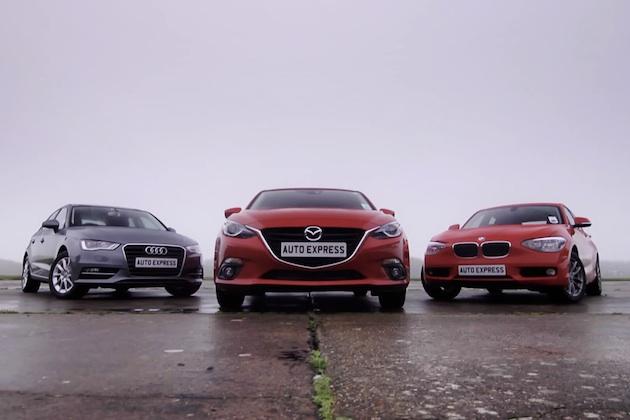 【ビデオ】ディーゼル車対決! マツダ「アクセラ」vs BMW「1シリーズ」vs アウディ「A3」