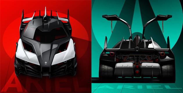 アリエル、1180馬力の電動スーパーカー「HIPERCAR(仮)」を開発中! 試作車のシャシーを公開