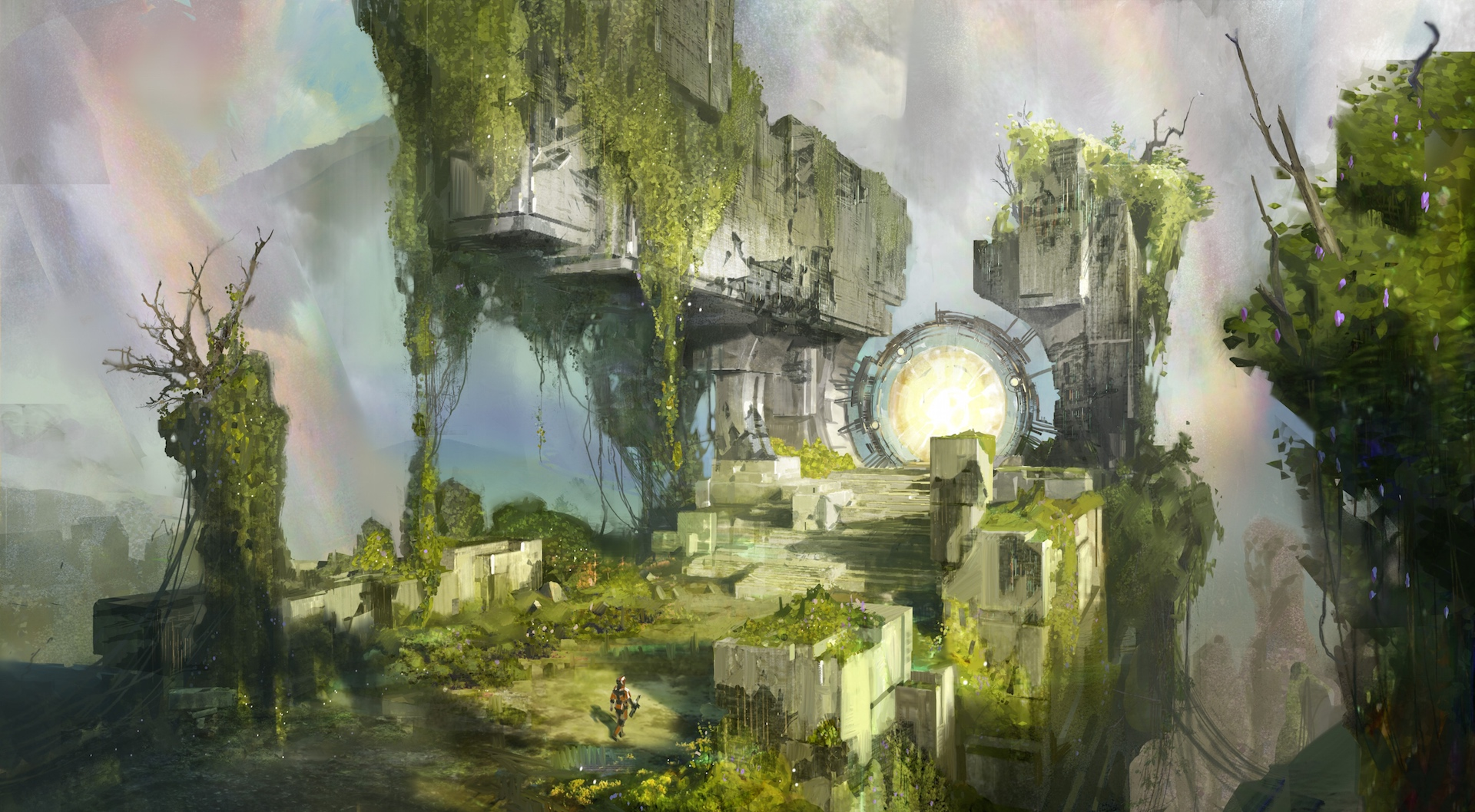Game with watercolor - Bungie Activision Concept Art From Destiny