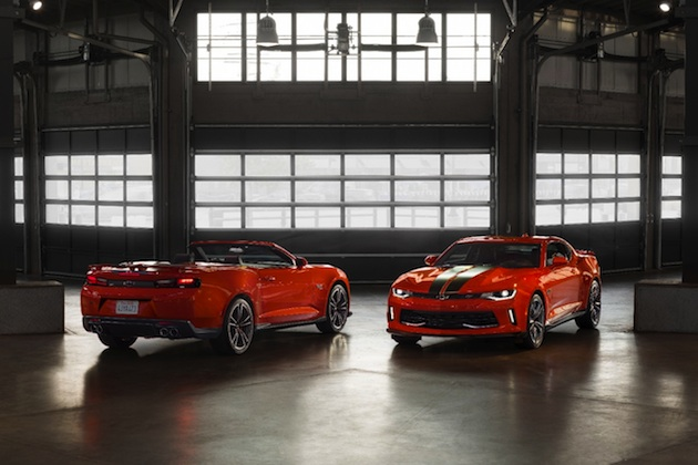 Chevrolet and Hot Wheels revealed the 2018 Camaro Hot Wheels 50th Anniversary Edition, celebrating 50 years of partnership, performance innovation and design.  The commemorative package pays homage to iconic Hot Wheels features including a Crush exterior color and stripes that replicate the toys' famous orange tracks.