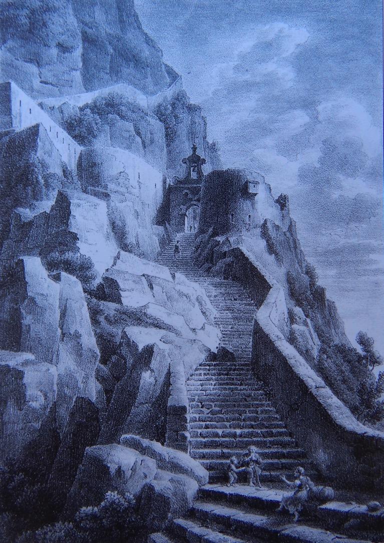 Escalier d'Anna Capri (litografia, 1825, riprodotta nel