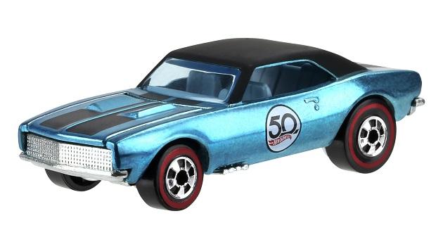 ホットウィール誕生50周年を記念して、1968年に発売された最初の製品から5車種の復刻モデルが登場!