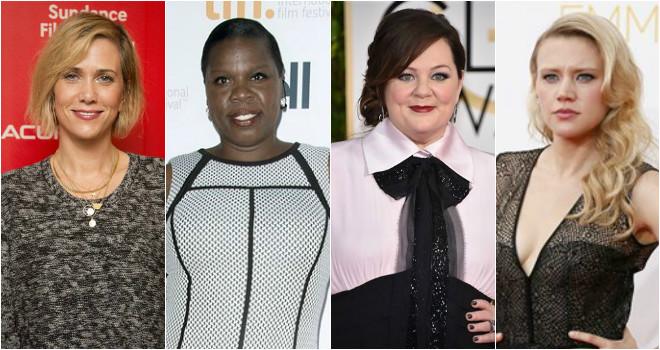 Ghostbusters cast, Kristen Wiig, Melissa McCarthy, Kate McKinnon, Leslie Jones