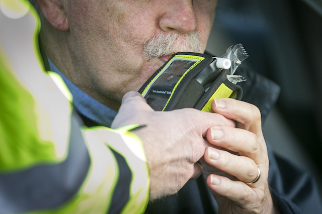 "File photo dated 21/12/16 of a driver blowing into a breathalyser. Police have launched a summer crackdown on the ""menace"" of drink and drug driving."