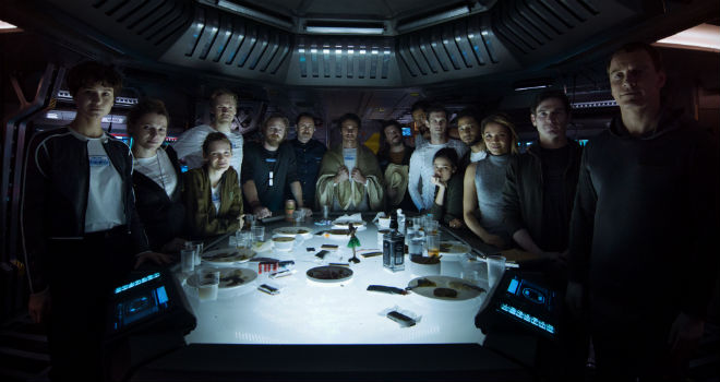 The crew of the Covenant in ALIEN: COVENANT