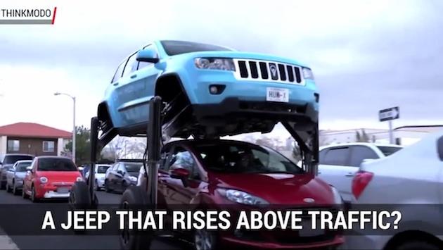 【ビデオ】渋滞回避の解決策!? クルマの列をまたいで進む「ハム・ライダー」