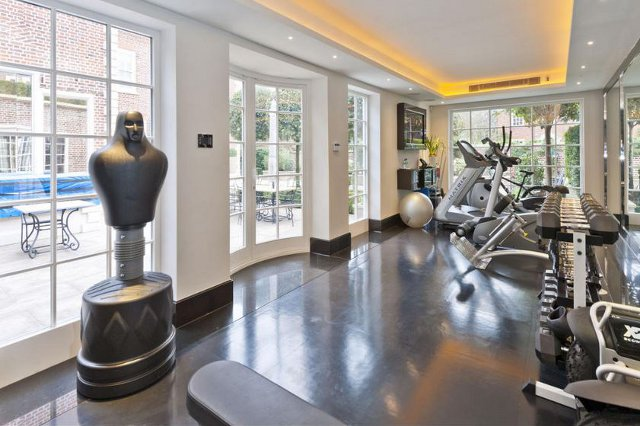 The gym at the St John's Wood house