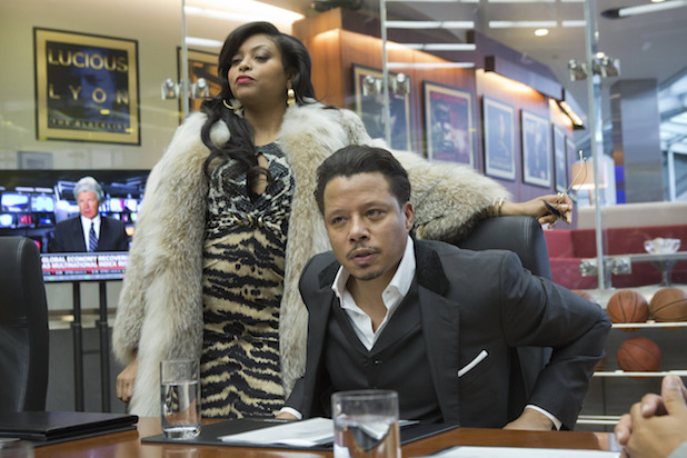 From left, Taraji P. Henson as Cookie and Terrence Howard as Lucious on
