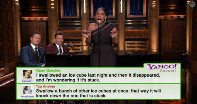 Singing Yahoo Answers, Jimmy Fallon, Audra McDonald, Josh Charles