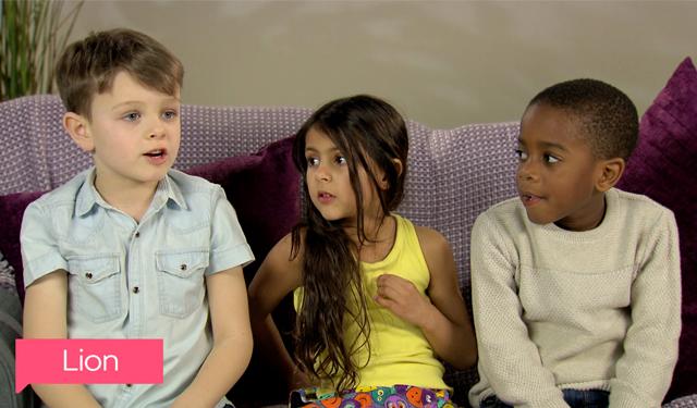 Kids on sofa