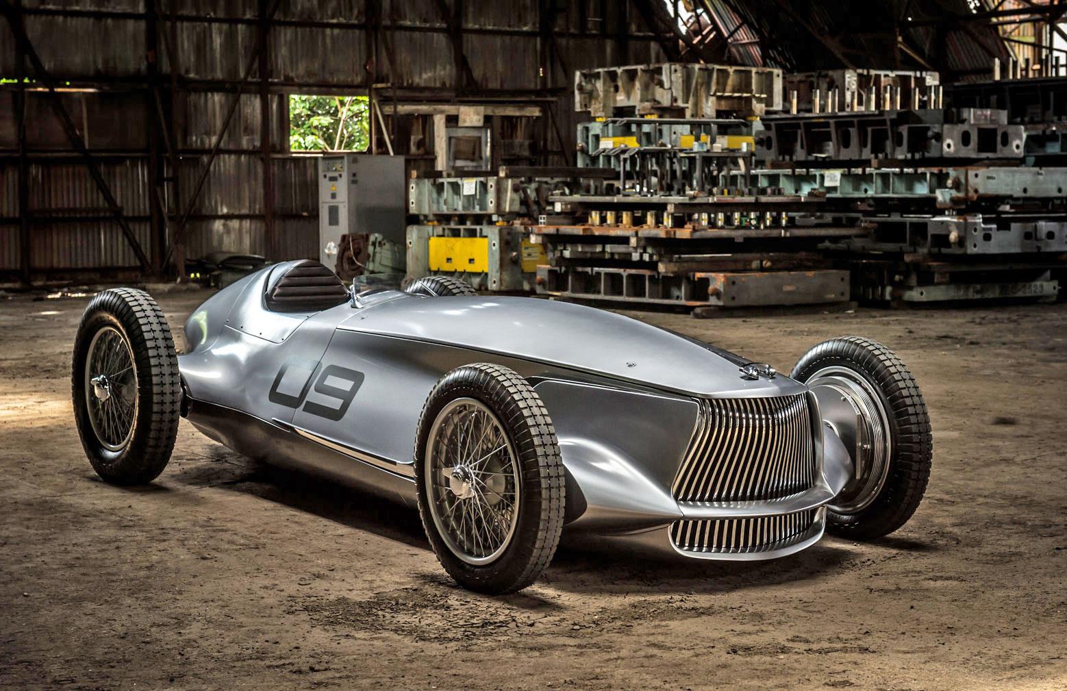 infinity classic car  Infiniti prototype melds a 1940s race car with EV power