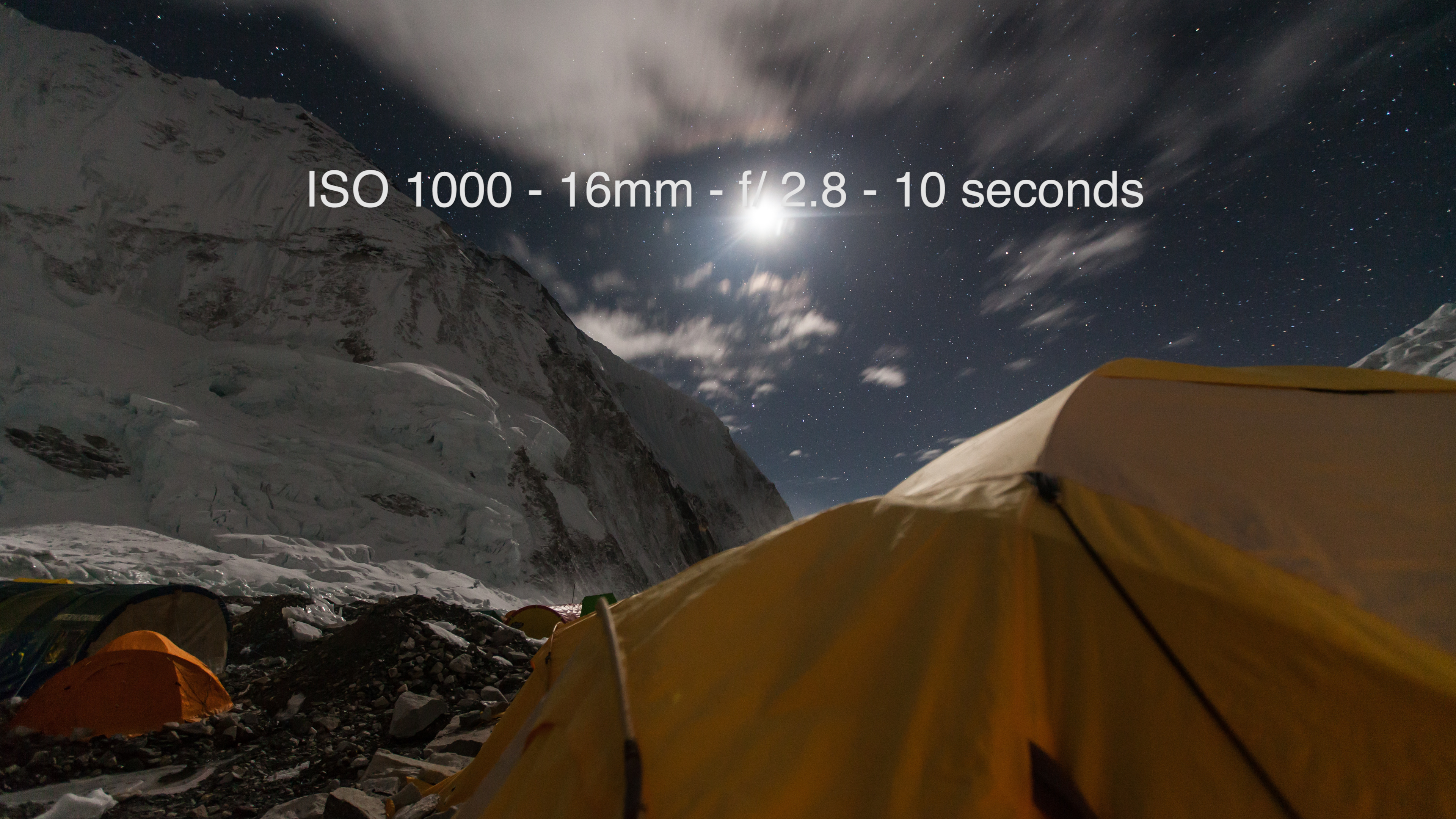 Camp 2 on Mount Everest at 6,705