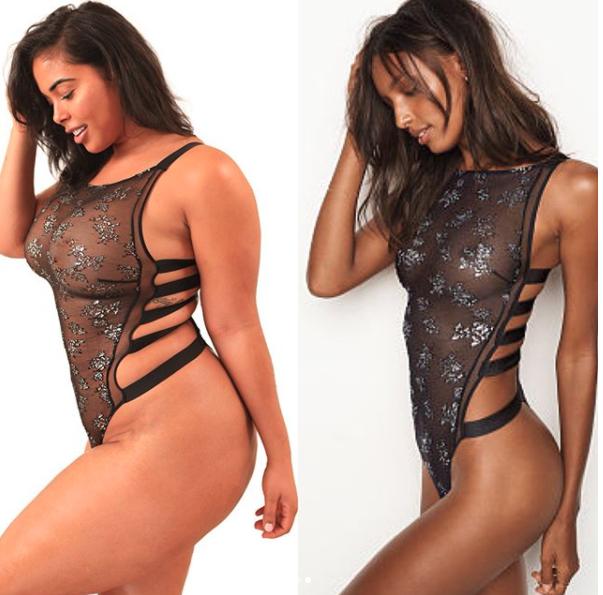 Tabria Majors Proves Plus-Size Models Look Good In Victoria's Secret Underwear