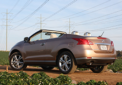 2011 Nissan Murano CrossCabriolet - rear 3/4 view