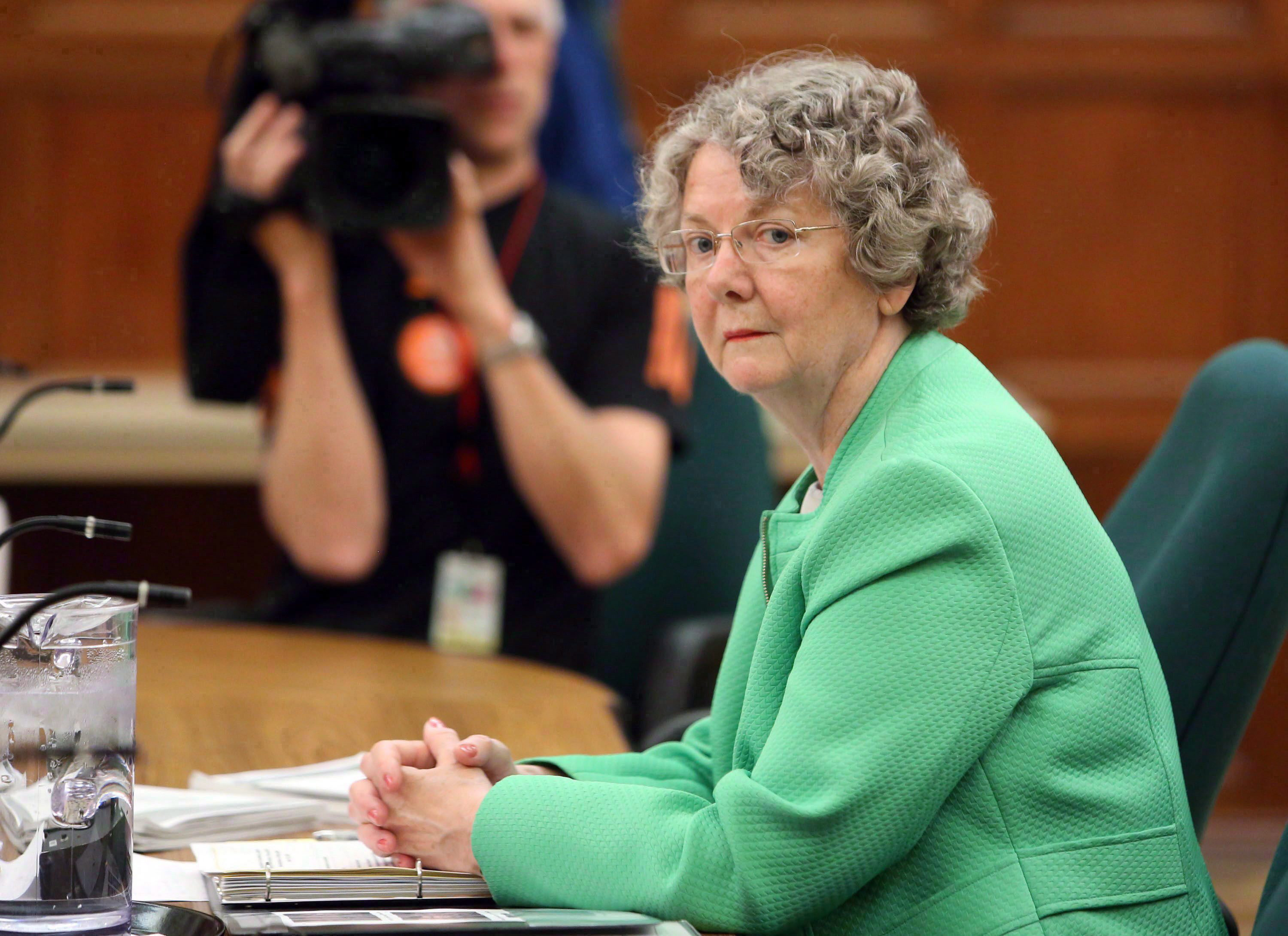 Ethics Commissioner Mary Dawson prepares to appear at Commons committee, on Parliament Hill in Ottawa,...
