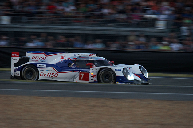 A Toyota TS040 at the 2014 24 Hours of Le Mans.