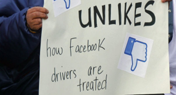 facebook drivers strike