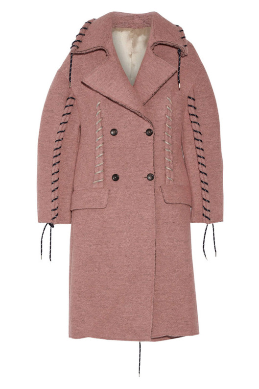 Acne Studios Evia whip-stitched wool coat