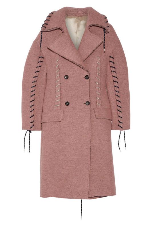 Acne Studios Evia whip-stitched wool coat