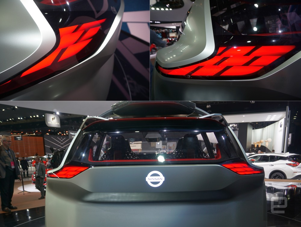 "Nissan Xmotion ""holographic"" lights"