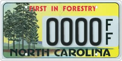 State of north carolina environmental license plate
