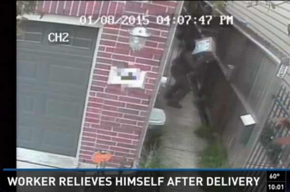 Delivery driver caught on camera