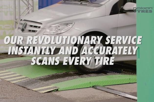 【ビデオ】クルマでその上を通過するだけで、タイヤの溝を測定できるスキャナー