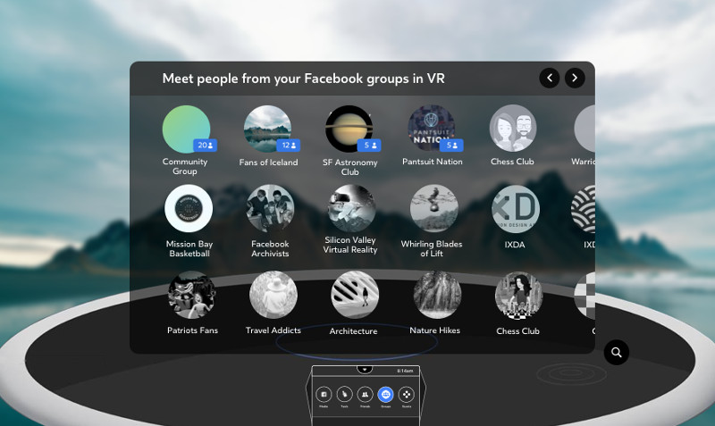 Facebook opens up social VR app Spaces to Groups